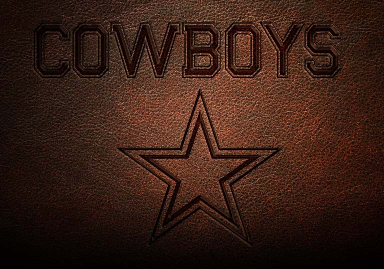 Dallas Cowboys Leather Text Style-
