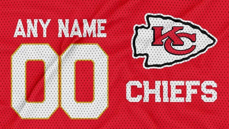 Kansas City Chiefs jersey texture logo mockup