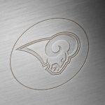 los angeles rams brushed metal engraved