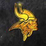 minnesota vikings 3d grunge gold