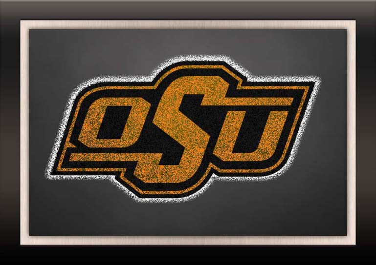 oklahoma state cowboys chalkboard logo