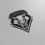 new mexico lobos paper pressed logo
