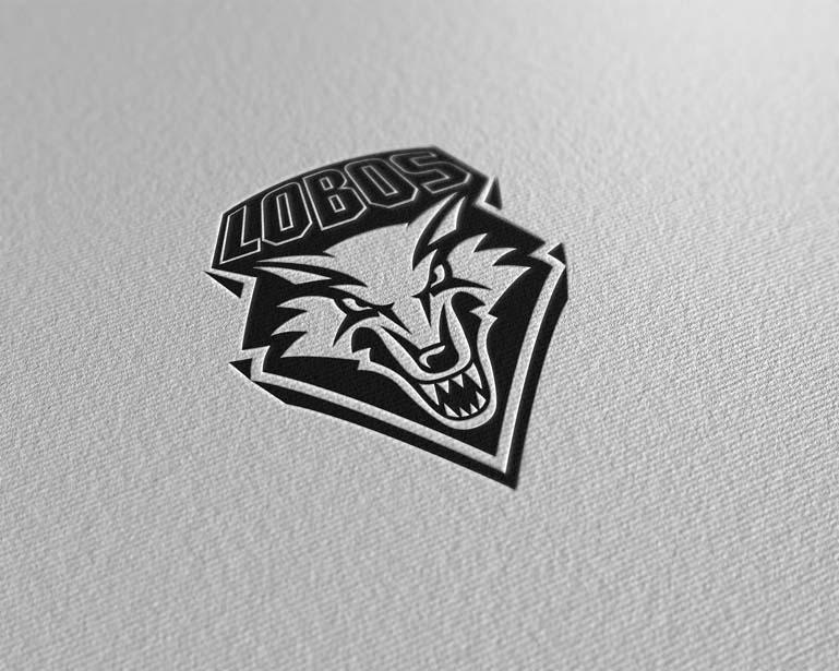 new mexico lobos paper pressed logo