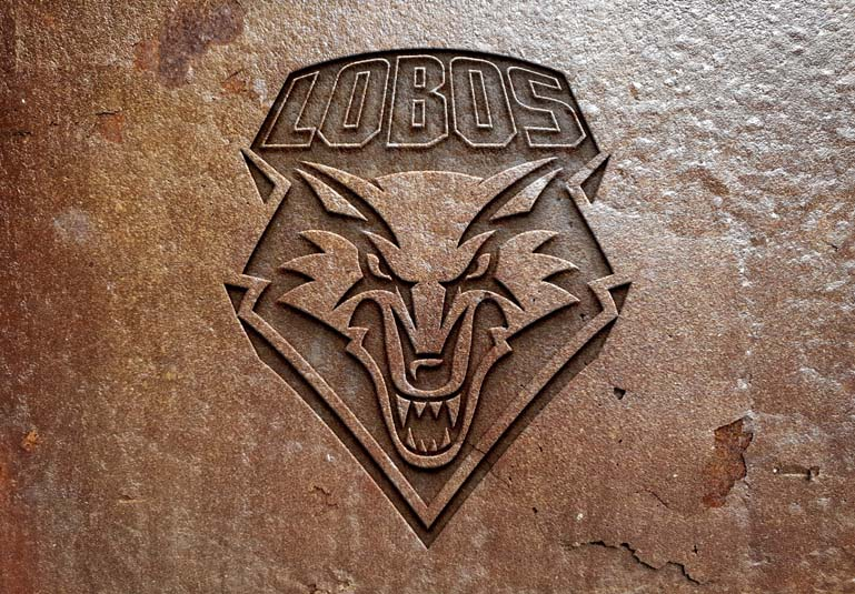 New Mexico Lobos Rusted metal
