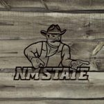 New Mexico State Aggies Carved wood