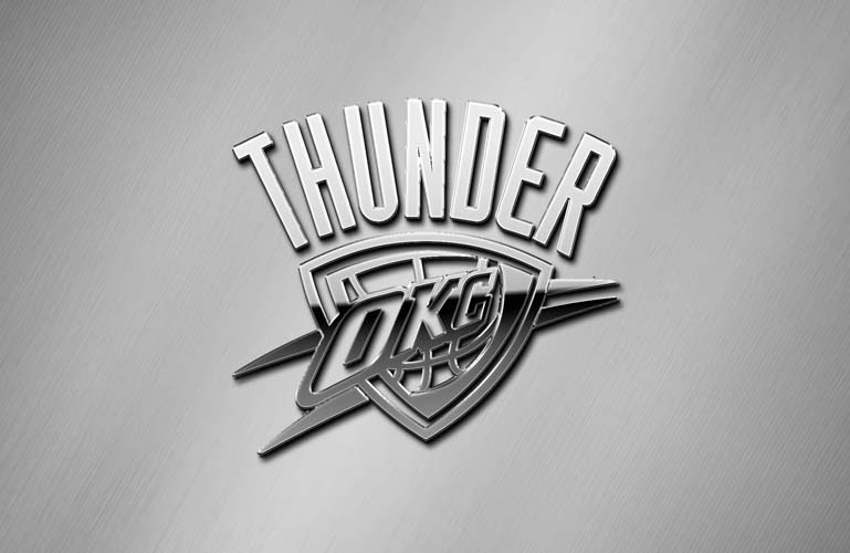 oklahoma city thunder chrome metallic