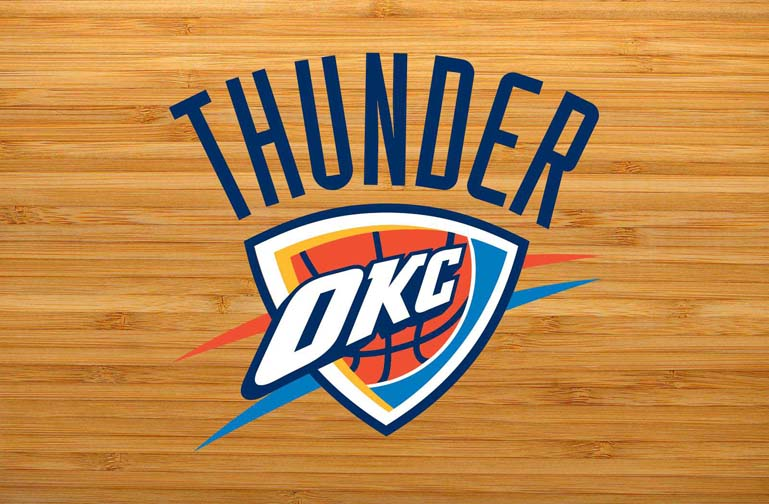 oklahoma city thunder court logo