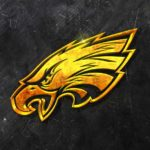 philadelphia eagles 3d grunge gold