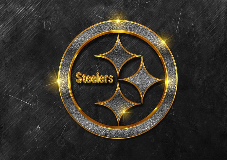 pittsburgh steelers 3d black glamour