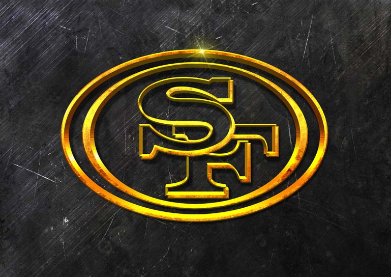 san francisco 49ers 3d grunge gold