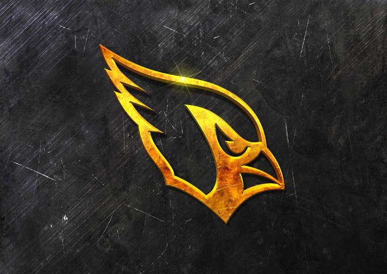 arizona cardinals 3d grunge gold