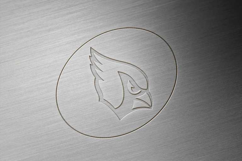 Arizona Cardinals Brushed Metal Engraved