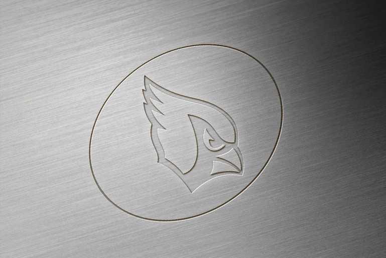 Arizona Cardinals Brushed Metal Engraved