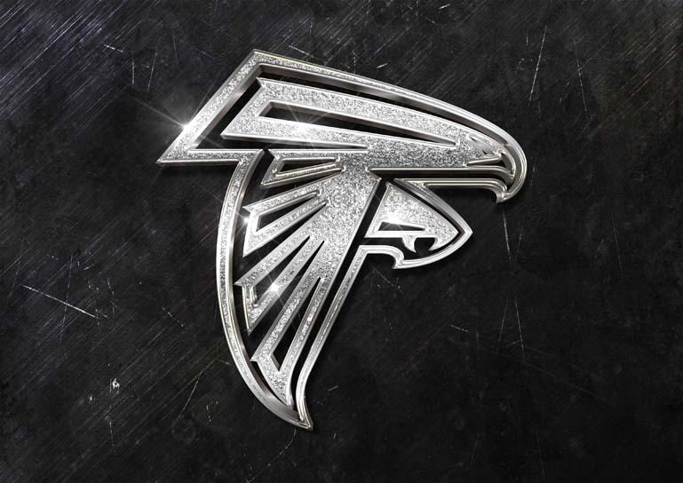 atlanta falcons 3d silver sparkle