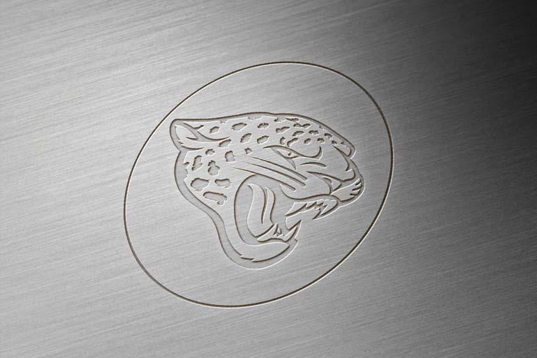 jacksonville jaguar brushed metal engraved