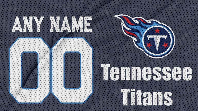 jersey texture logo mockup Tennessee Titans