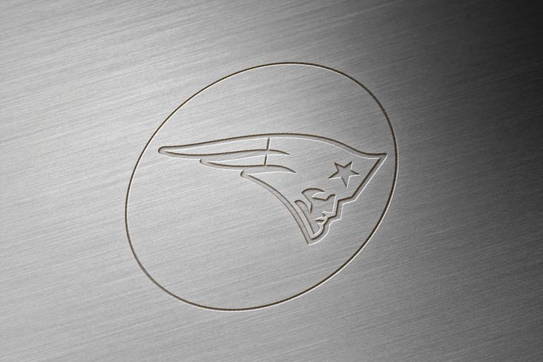 new england patriots brushed metal engraved