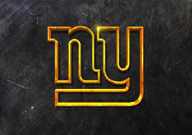 new york giants 3d grunge gold