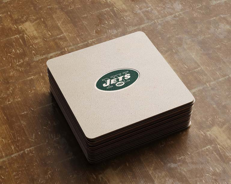 new york jets square card paperl ogo