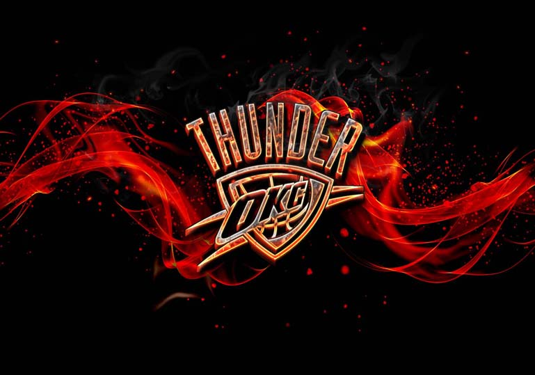 oklahoma city thunder burn fire effect