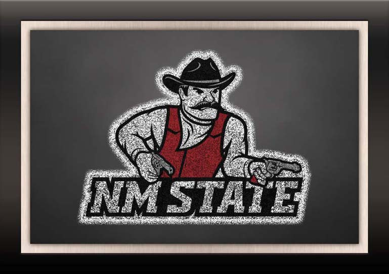 new mexico state aggies chalkboard frame