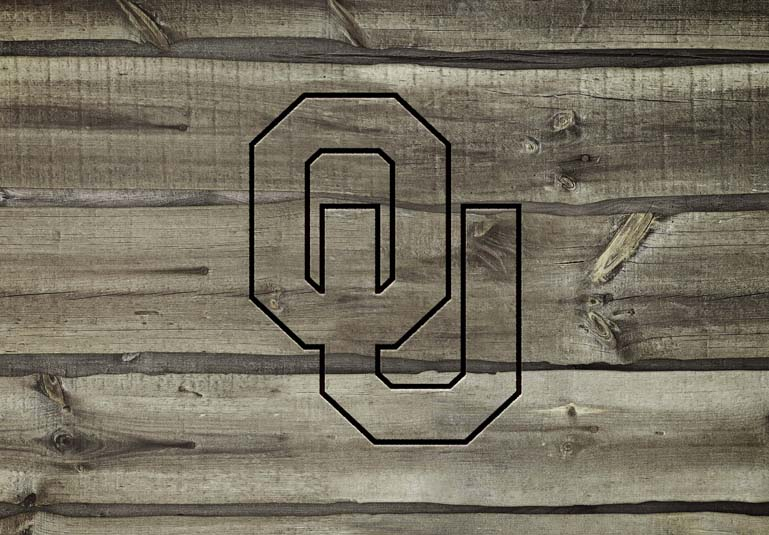 Oklahoma Sooners Carved wood effect